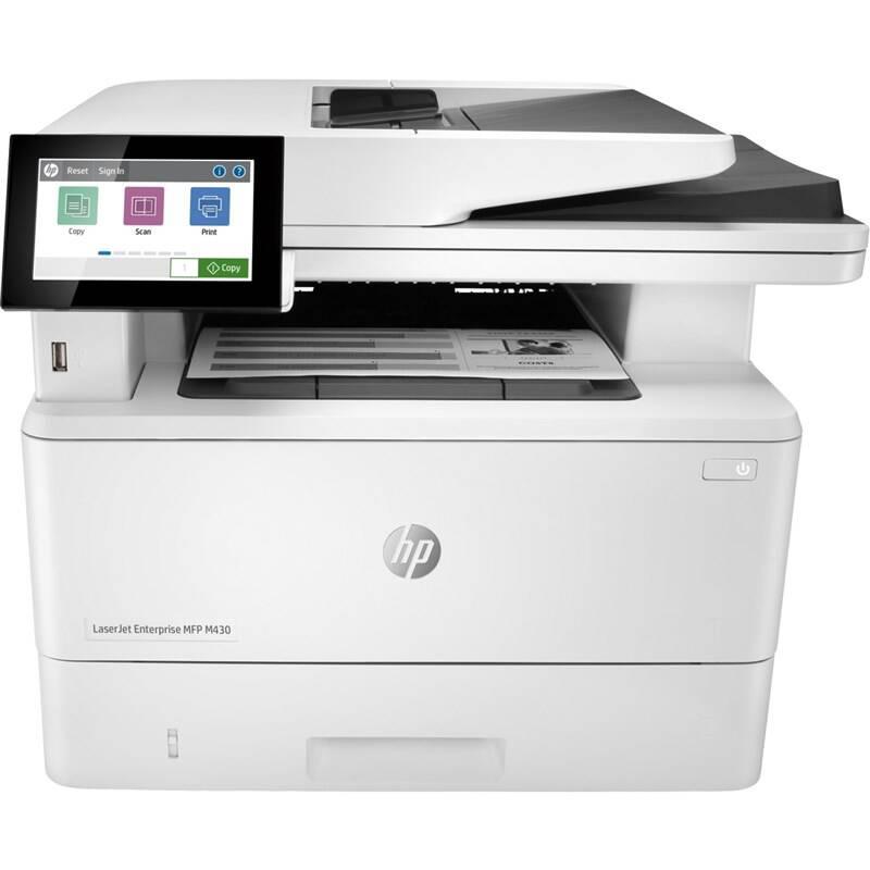 Tlačiareň multifunkčná HP LaserJet Enterprise MFP M430f (3PZ55A#B19) biely + Doprava zadarmo