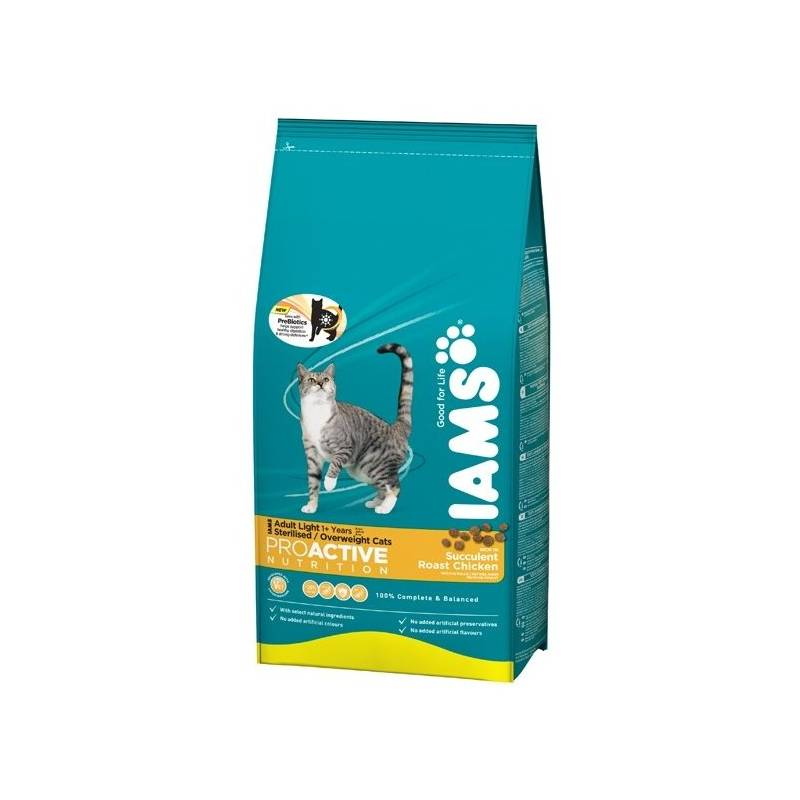Granule Iams Cat Light rich in Chicken 10 kg