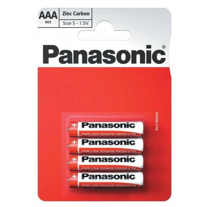 Batérie zinkovo-uhlíková Panasonic AAA, R03, blistr 4ks (R03RZ/4BP)