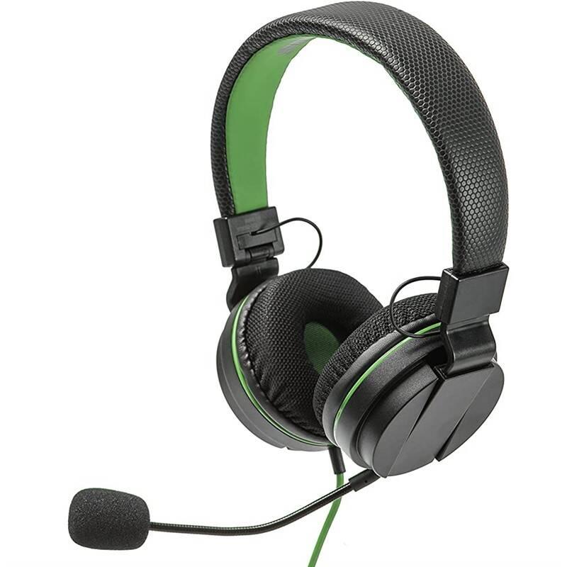 Headset SnakeByte HEAD:SET X (Xbox One) (SB913099) čierny/zelený
