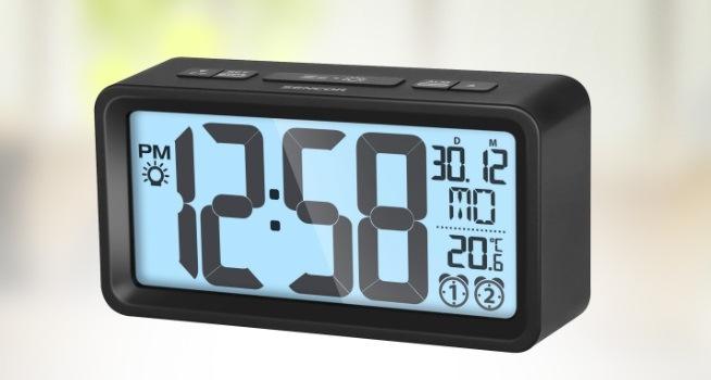 Digitální hodiny s budíkem a teploměrem Sencor SDC 2800 B, černá