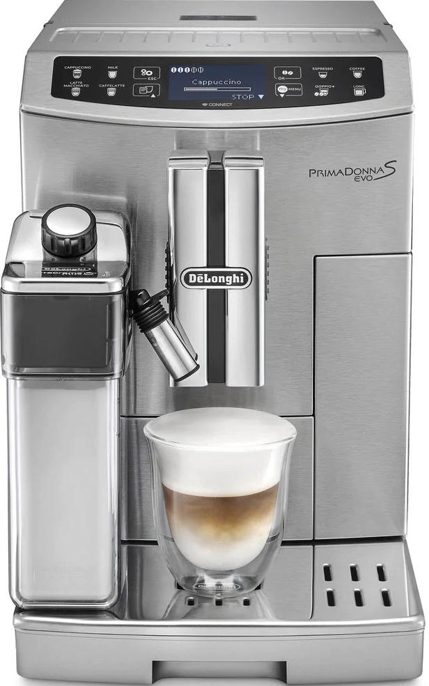 Espresso DeLonghi PrimaDonna S Evolution ECAM 510.55 M, stříbrná
