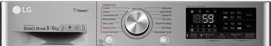 LG F4DV709H2T, stříbrná