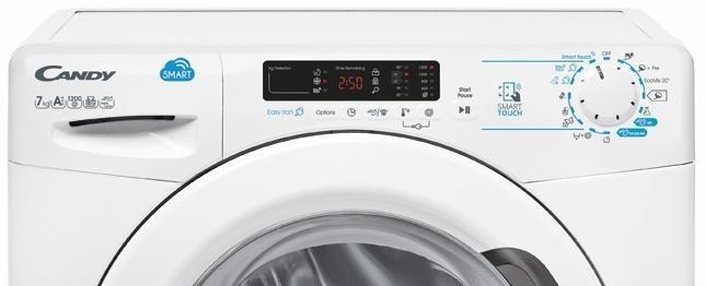 Pračka má jednoduché ovládání a přehledný displej