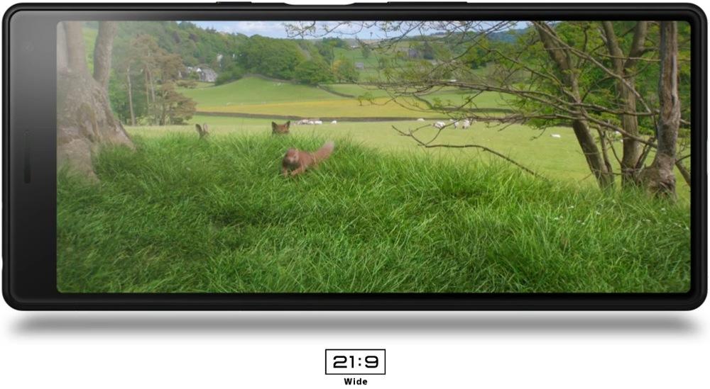 Sony Xperia 10 (displej s poměrem stran 21 : 9)