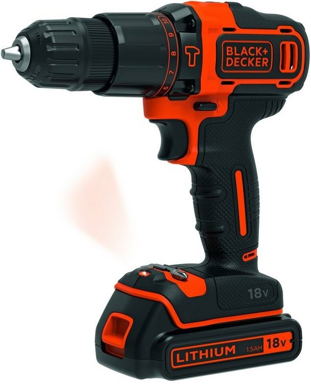 Aku vrtačka Black-Decker BDCHD18K1B2