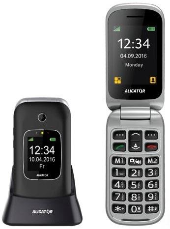 Mobilný telefón Aligator V650 Senior (AV650BS) čierny strieborný ... 09346410518