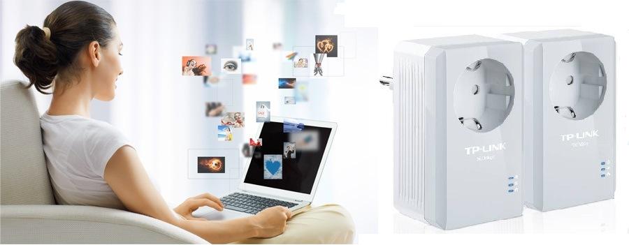 Síťový rozvod LAN po 230V TP-Link TL-PA4010P KIT