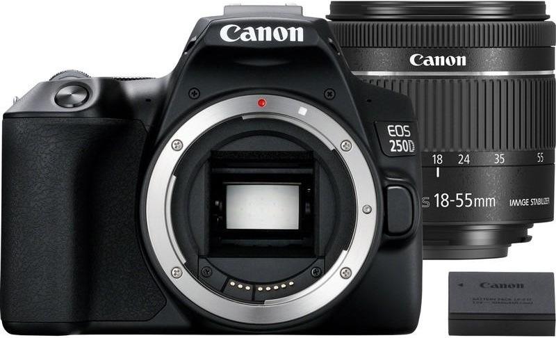 Canon EOS 250D + 18-55 IS STM + akumulátor LP-E17, černá