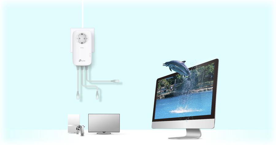 Síťový rozvod LAN po 230V TP-Link TL-PA8030PKIT
