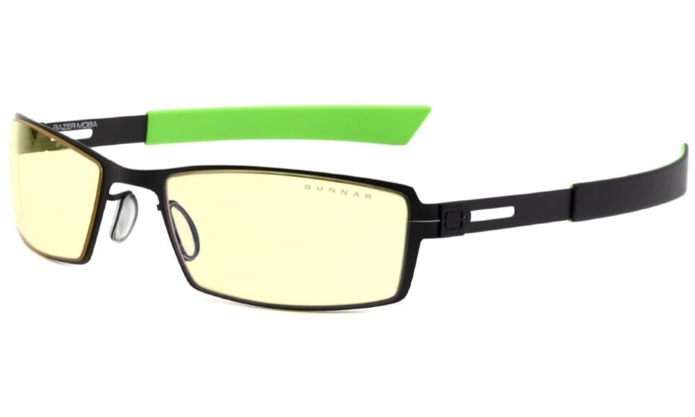 Herní brýle GUNNAR Razer Moba Onyx, jantarová skla - černé