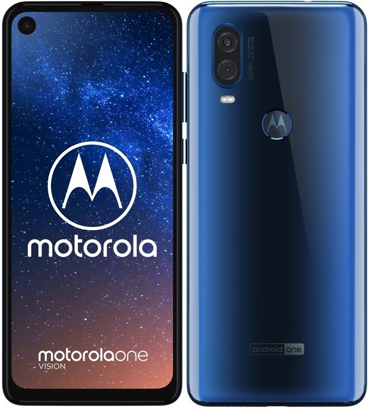 Motorola Moto One Vision, modrá