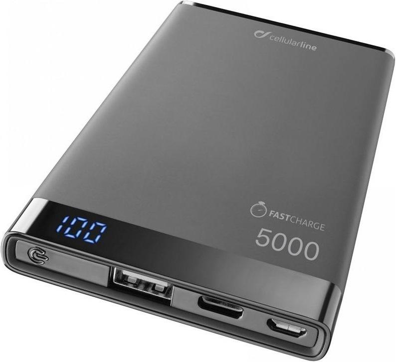 CellularLine Freepower Manta S, 5000mAh, USB-C, černá