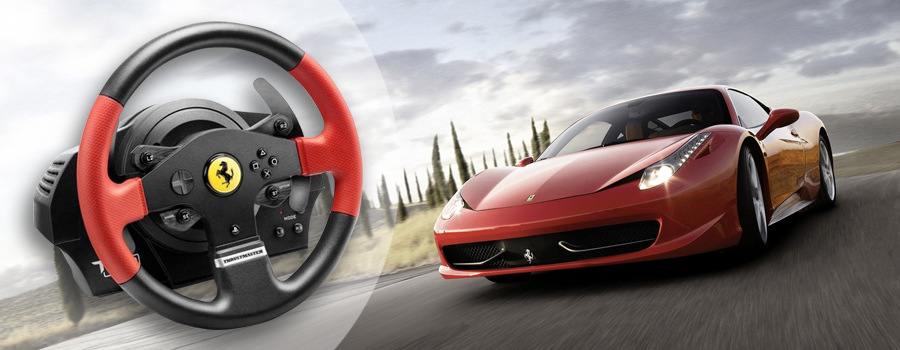 volant thrustmaster t150 ferrari pro ps4 ps3 pc ped ly 4160630 ern. Black Bedroom Furniture Sets. Home Design Ideas