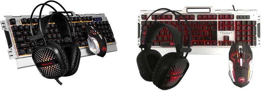 Sada Marvo CM303, klávesnice, myš, headset