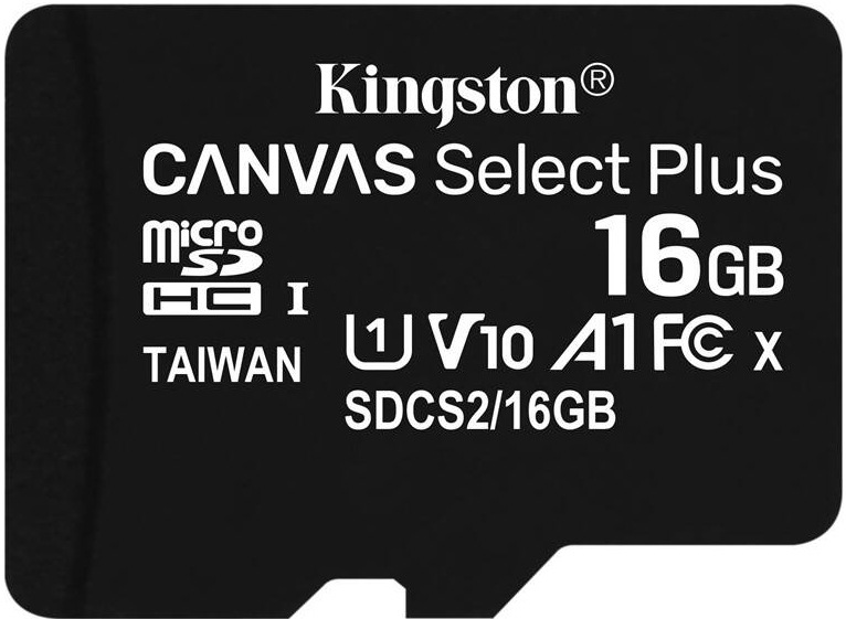 Kingston Canvas Select Plus MicroSDHC, 16 GB