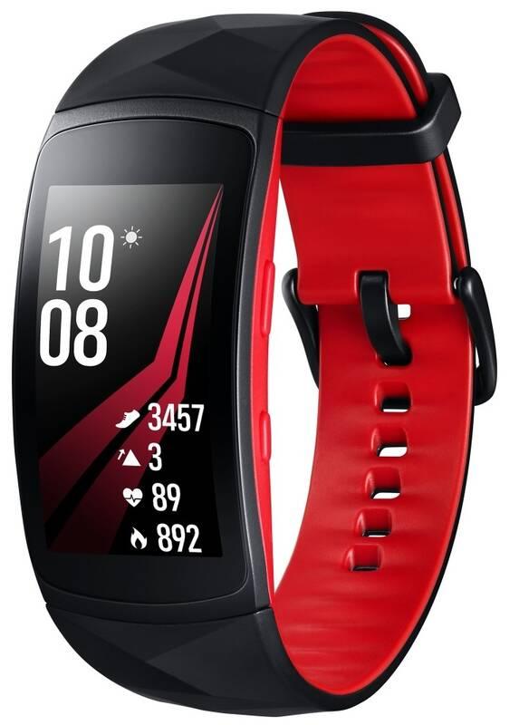 Fitness náramek Samsung Gear Fit2 Pro vel. L (SM-R365NZRAXEZ) černý červený 4a44158b3df