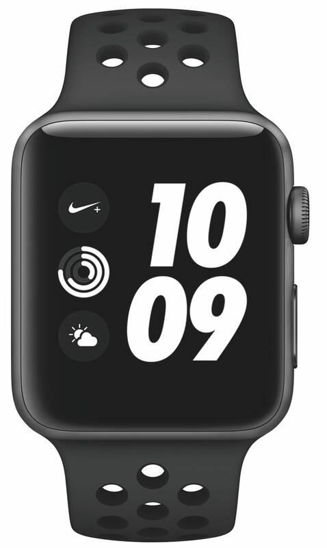 ... Chytré hodinky Apple Watch Nike+ Series 3 GPS 42mm pouzdro z vesmírně  šedého hliníku - antracitový · Vedlejší obrázek  Vedlejší obrázek 2 f09b7c05ad