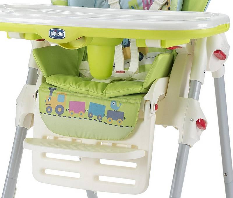 Jedálenská stolička Chicco POLLY NEW 2v1 baby world modrá