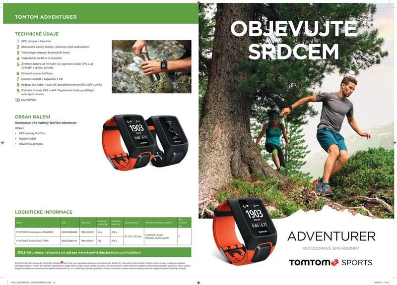 ... GPS hodinky Tomtom Adventurer Cardio + Music (1RKM.000.00) oranžové ·  Vedlejší obrázek 2  Vedlejší obrázek 3  Vedlejší obrázek 4 ... ac26999c685