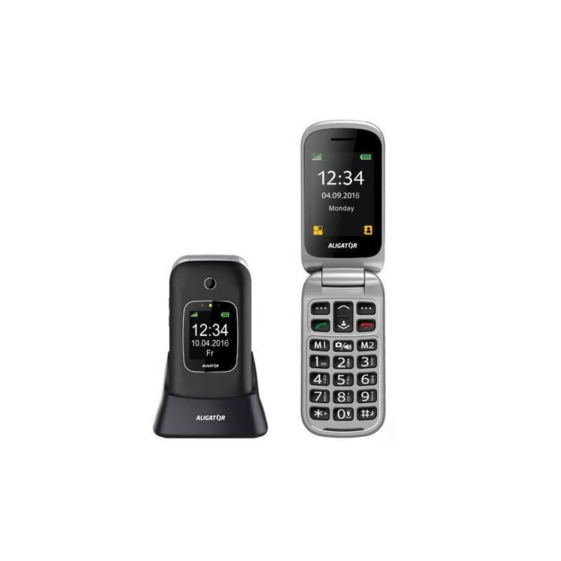 ... Mobilný telefón Aligator V650 Senior (AV650BS) čierny strieborný ·  Vedlejší obrázek · Vedlejší obrázek 2 4b2e0fc81f9