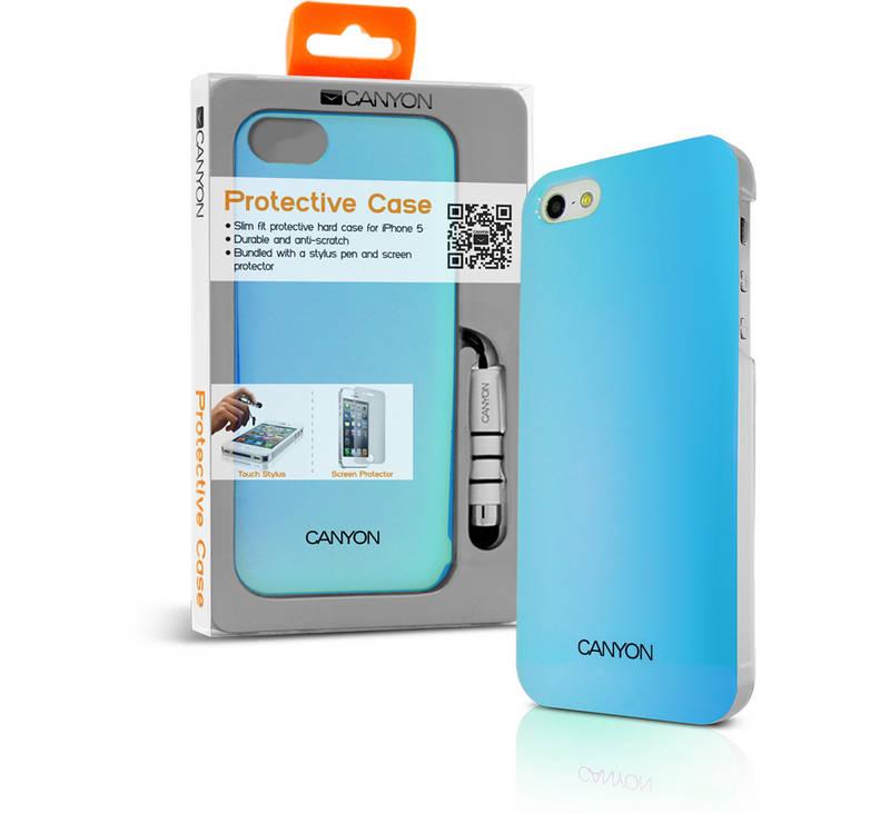 Kryt na mobil Canyon CNA-i5C03BL pro Apple iPhone 5 + Stylus (CNA-i5C03BL)  modrý 2acef762d50