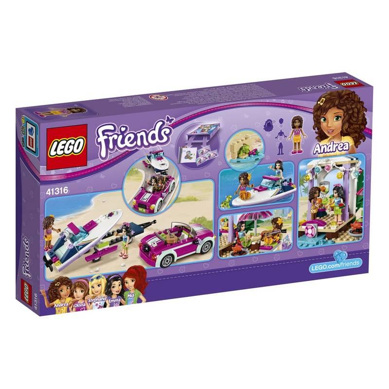 Zestawy Lego Friends Friends 41316 Transporter Motorówek Andrei