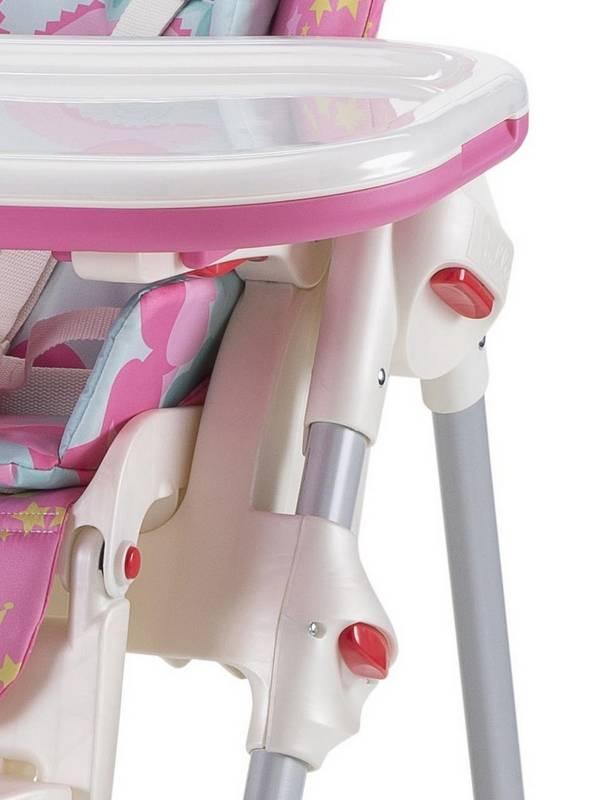 Jedálenská stolička Chicco POLLY NEW 2v1 princess ružová