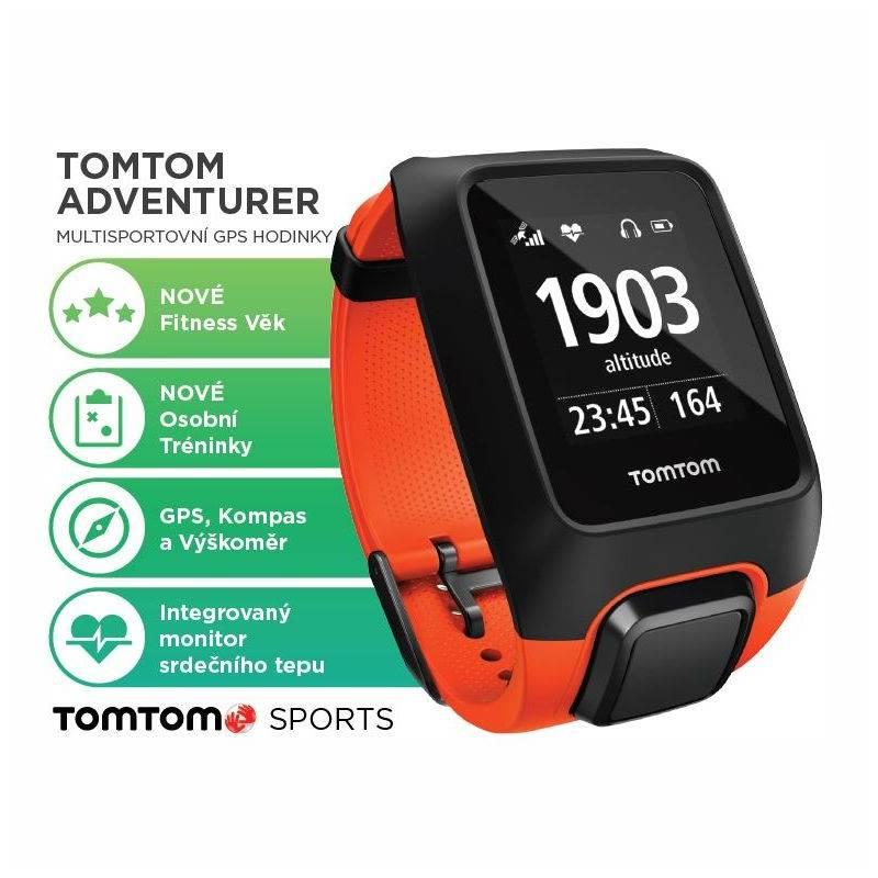GPS hodinky Tomtom Adventurer Cardio + Music (1RKM.000.00) oranžové ... 427ab4b0291