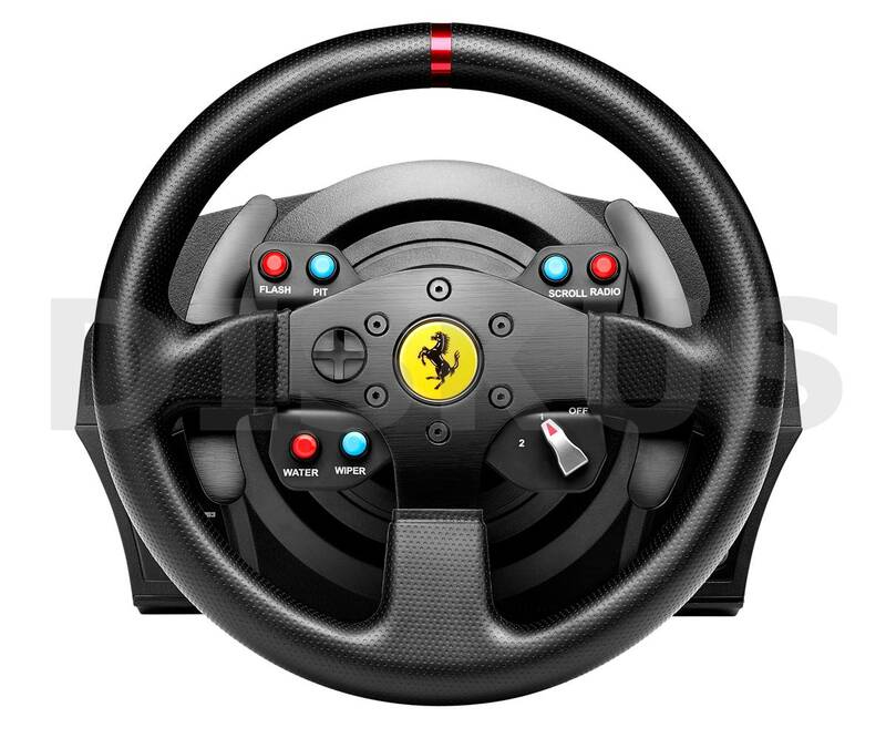 volant thrustmaster t300 ferrari gte pro ps3 ps4 pc ped ly 4160609. Black Bedroom Furniture Sets. Home Design Ideas