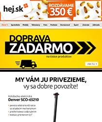 Doprava zadarmo + 350 € na ďalší nákup >>