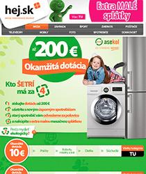 Pozor! Získajte dotáciu až 200 € na nový úsporný spotrebič!