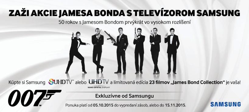 Zaži akcie Jamesa Bonda s televízormi Samsung  56a8e22effb