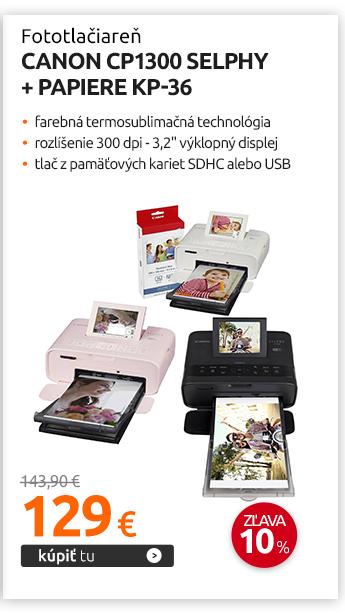 Fototlačiareň Canon CP1300 Selphy + papiere KP-36