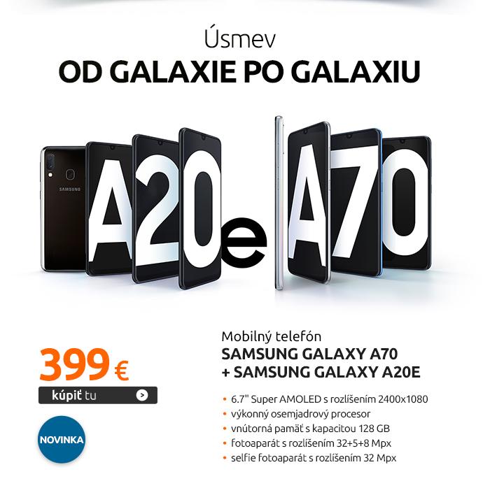 Mobilný telefón Samsung Galaxy A70 + Samsung Galaxy A20e