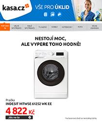 Pračka Indesit za 4 822 Kč? Jedině v BAZARu!