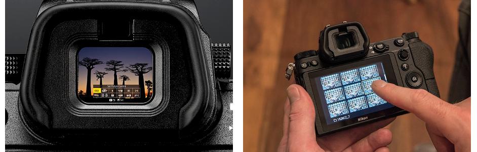 Náhled na OLED hledáček foťáku Nikon Z6