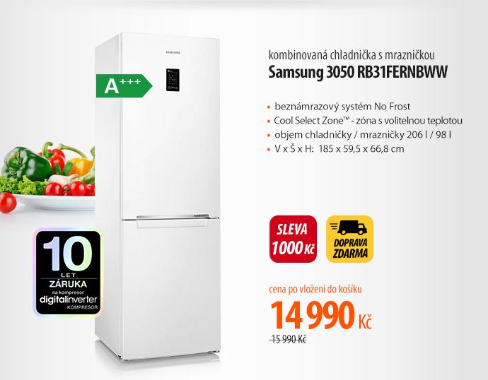 Chladnička s mrazničkou Samsung 3050 RB31FERNBWW bílá