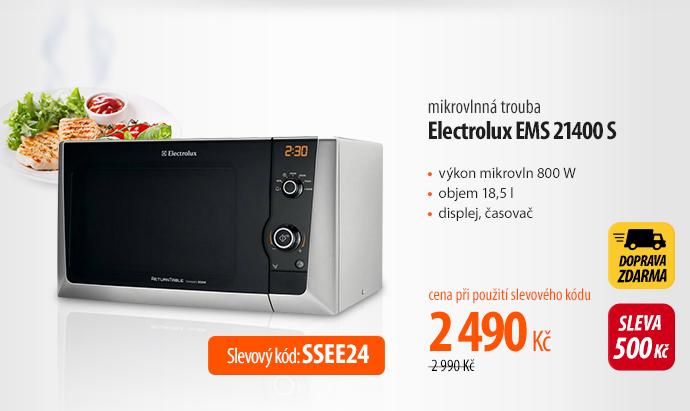 Mikrovlnná trouba Electrolux EMS 21400 S stříbrná