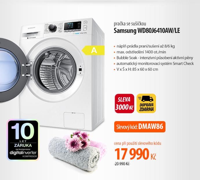 Automatická pračka se sušičkou Samsung WD80J6410AW/LE bílá