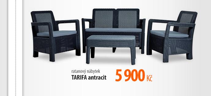 Ratanový nábytek TARIFA antracit