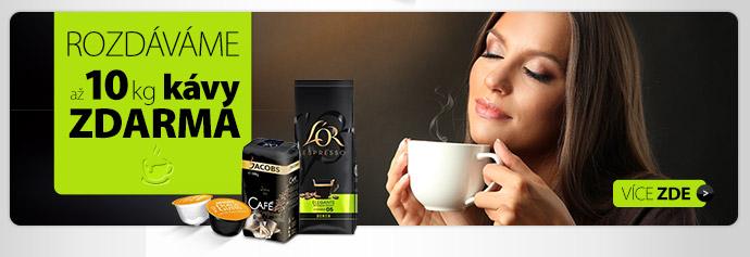 Rozdáváme až 10 kg kávy zdarma
