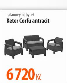 Ratanový nábytek Keter Corfu antracit