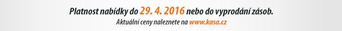 Platnost nabídky do 29. 4. 2016 nebo do vyprodání zásob.