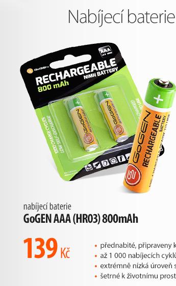 Nabíjecí baterie GoGen AAA