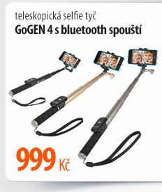 Teleskopická selfie tyč GoGen s Buetooth