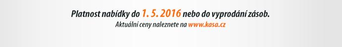 Platnost nabídky do 1. 5. 2016 nebo do vyprodání zásob.