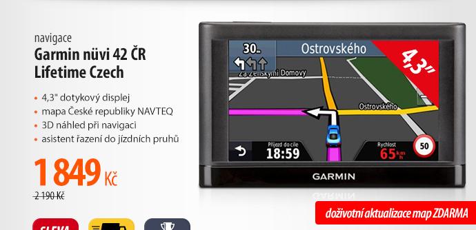 Navigace Garmin nüvi 42 ČR Lifetime Czech
