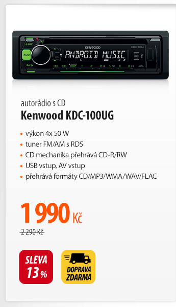 Autorádio s CD Kenwood KDC-100UG