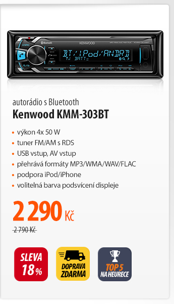 Autorádio s Bluetooth Kenwood KMM-303BT